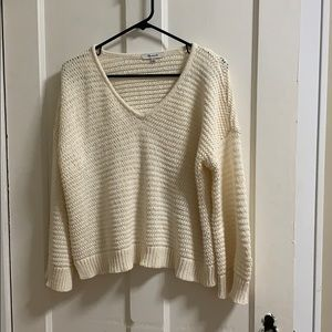 Madewell cream and cozy sweater
